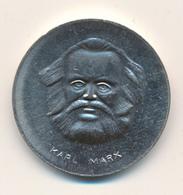 DDR - 1983   ,  Karl Mark 1818-1883 , 100. Todestag , Gedenkmedaille Aus Neusilber - Souvenirmunten (elongated Coins)