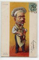 """POLITIQUE Satirique""""  M ROUVIER égorgeant Le Coq Illustrateur SIRAT   écrite 1903     D06 2019 - Satiriques"""