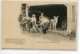 ANES Maréchal Ferrant Au Travail La Forge Aux Anes  1900Scènes Normandes Coll Renard No 23  Cliché Doutwaith  D06 2019 - Anes