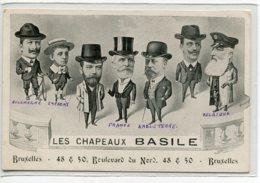 BELGIQUE BRUXELLES Carte PUBLICITE Pour Les Chapeaux BASILE 48-50 Boulevard Du Nord  Kossuth Illustrateur   D06 2019 - Non Classés