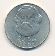 DDR - 1983 A ,  Karl Mark 1818-1883 , 100. Todestag , 20 MARK , Gedenkünze Aus Neusilber - Souvenirmunten (elongated Coins)