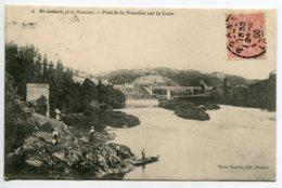 42 ST SAINT JODART Pont De La Vourdiat Sur Loire Femmes Et Homme Barque 1905 écrite Timb     D06 2019 - Autres Communes