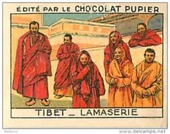 PU3      CHINE TIBET  LAMASERIE LAMAS CHINA ASIA ASIE COREE TRADECARD   7 X 5 Cm Chocolat Tradecard - Vieux Papiers