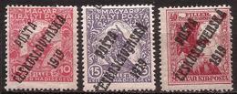 "Checoslovaquia - Fx. 3431 - Yv. 72/4 - Sobrecarga ""PÓSTA CESKOSLOVENSKA 1919"" S/ Beneficencia De Hungria - (*) - Cecoslovacchia"