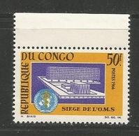 "CONGO 1966 - YT 187 - ""O.M.S."" - MNH** Single Value - Congo - Brazzaville"