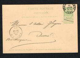 // OUDE POSTKAART  CARTE POSTALE  BRAINE - LE - COMPTE - ANVERS  1901 - 1893-1907 Coat Of Arms