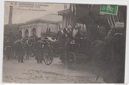 LIMOGES VISITE DU PRESIDENT DE LA REPUBLIQUE R. POINCARE VOITURE PRESIDENTIELLE 1913 TBE - Limoges