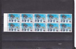 Japon Nº 2137a En Hoja De 10 Sellos - 1989-... Emperor Akihito (Heisei Era)