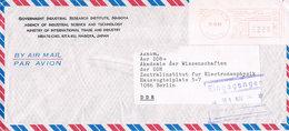 Japan - Freistempel Auf Luftpostbrief In Die DDR Aus Nagoya - Meterstamp - 1926-89 Kaiser Hirohito (Showa Era)