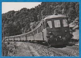 CP - Train - Train Navette , Automotrice Rbe 4-4 - Voiture De Commande FZt 4ü 1621-1651. - Treinen