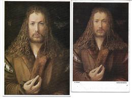 3010u: 2 AKs Albrecht Dürer (1471-1528), Selbstbildnis, Ungelaufen (um 1960) - Illustrators & Photographers