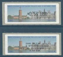 Vignette De Distributeur LISA - ATM - Paris Stockholm - Hôtel De Ville - Avec Reçu - 1999-2009 Illustrated Franking Labels