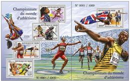 Niger 2015 Sport Athletics Klb+s/s MNH - Leichtathletik