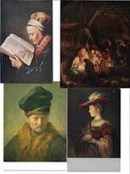 3010t: 4 AKs Rembrandt Harmensz Van Rjin (1606-1669), Ungelaufen, Um 1965 - Illustrators & Photographers
