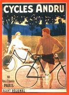 """CPM GF Publicitaire Illustrée Par Georget """" Cycles Andru """" 10 Rue Saint Quentin à Paris - Werbepostkarten"""
