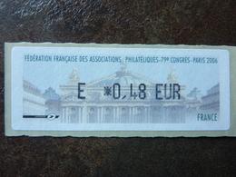 2006 LISA1 CONGRES FFAP PARIS  E 0,48€  (vendue à La Valeur Faciale)  ** MNH - 1999-2009 Vignettes Illustrées