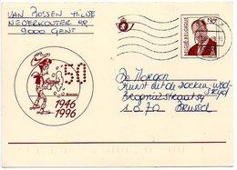 Lucky Luke Strip Figuur Figure  Gele Kaart 1946 1996 50 Jaar BD - Bandes Dessinées