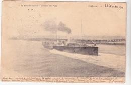 62 CALAIS  - Bateau Le Pas De Calais Sortant Du Port - Castastrophe Du Pluviose - CPA  9x14 N/B BE  Dos Non Divisé 1901 - Calais