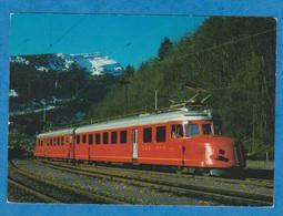 CP - Train - CFF Flèche Rouge Automotrice Double 4-8 1021 De 1939. - Trains
