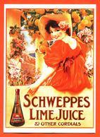 "CPM GF Publicitaire "" Schweppes Lime Juice "" - Pubblicitari"