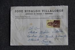 Timbre Sur Lettre Publicitaire - GUADALAJARA , José HIDALGO, Articulos De Tejidos Et Ferreteria - España