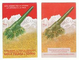 PRESTITO  NAZIONALE:  BANCA  ITALIANA  DI  SCONTO  -  DATE  DENARO  PER  LA  VITTORIA  -  2  VARIANTI  -  FP - Banche