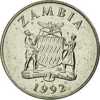 Monnaie, Zambie, 25 Ngwee, 1992, British Royal Mint, TTB, Nickel Plated Steel - Zambia
