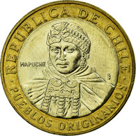 Monnaie, Chile, Native People, 100 Pesos, 2006, Santiago, TTB+, Bi-Metallic - Chile