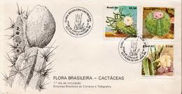 Brazil Set On FDC - Cactusses