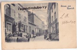 CPA - LUXEMBOURG - REMICH - GRUSS Aus REMICH Commerce De Vins MAISON NOMMESCH - M. CASPAR COCNIOUL - RARE 1903 - - Remich