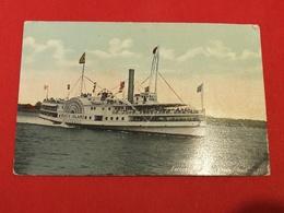 "CPA USA New York, NY, Excursion Steamer ""Block Island""n°887 THE VALENTINE SOUVENIR - Transports"