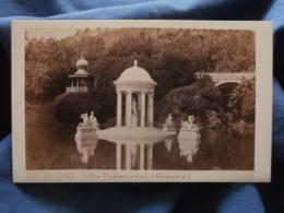 Photo CDV  Sommer & Behles à Rome  Villa Pallavicini (Genova) Fontaine N° 3963  CA 1865 - L438A - Photographs
