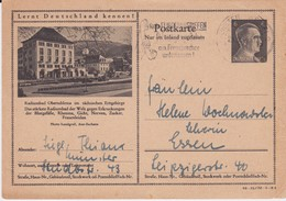 DR 3 Reich Ganzsache P 307 Bildpostkarte Oberschlema Sachsen Gel MWSt Münster 1943 - Deutschland