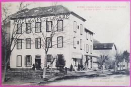 Cpa Veynes Grand Hotel Tourtet En Face De La Gare Et Auto Garage Rare Carte Postale 05 Hautes Alpes Proche Montmaur Gap - Autres Communes