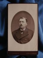 Photo CDV  Laporte à Vitry Le François  Portrait Homme  Yeux Tristes  CA 1890 - L438A - Photographs