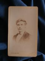 Photo CDV  Rezé à Reims  Portrait Homme Blond Moustachu  Fin Sec. Empire  CA 1870 - L438A - Photographs