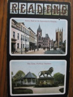Reading, Berkshire - Posted 1908 (Dual View) - Reading
