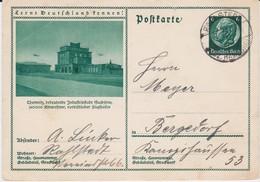 DR 3 Reich Ganzsache P 221 Bildpostkarte Chemnitz Flughafen Sachsen Gel  Hamburg Rahlstedt 1933 - Deutschland