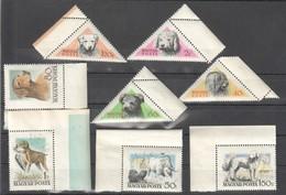 BB095 1956 HUNGARY MAGYAR POSTA FAUNA PETS DOGS BIG SET MNH - Chiens