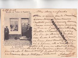CPA - LUXEMBOURG - MONDORF-VILLAGE MUHLENWEG - BUREAU De TABAC & PAPETERIE MAISON A. SCHMIT - CARTE RARE - - Mondorf-les-Bains
