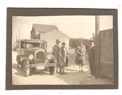 PHOTO ORIGINALE VARENGEVILLE NORMANDIE - VIEILLE VOITURE CHENARD WALKER Y6 Y 6- FRENCH OLD CAR SEDAN - Automobili