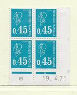 FRANCE  ( FCD7 - 10 )   1971  N° YVERT ET TELLIER  N° 1663  N** - Dated Corners