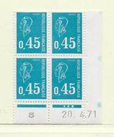 FRANCE  ( FCD7 - 11 )   1971  N° YVERT ET TELLIER  N° 1663  N** - Dated Corners