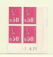 FRANCE  ( FCD7 - 12 )   1971  N° YVERT ET TELLIER  N° 1664  N** - Dated Corners