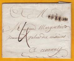 1788 -  Marque Postale DE LYON, Rhône Sur Lettre Avec Correspondance Vers Annonay, Ardèche - Taxe 4 - 1701-1800: Vorläufer XVIII