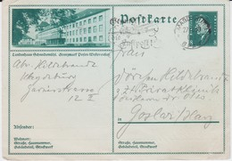 DR Weimar Ganzsache P 189 Bildpostkarte Schneidemühl Grenzmark Gel MWSt Magdeburg 1930 - Interi Postali