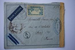 Avion / Airplane / De Dakar à  Paris /  Censure Militaire Française /  24.04.1940 - Sénégal (1887-1944)