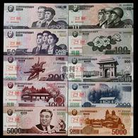 2012 North Korea Banknotes 100 Aniversary Of Kim Ll-sung Specimen 10V - Korea, North