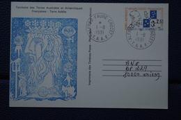 6-105 Crozet TAAF Dessin Jean Delpech Manhot Adelie Peinguin Entier Postal Max Douguet FDC 1991 - Enteros Postales
