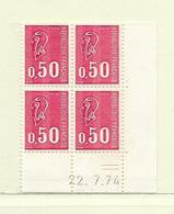 FRANCE  ( FCD7 - 15 )   1971  N° YVERT ET TELLIER  N° 1664c  N** - Dated Corners